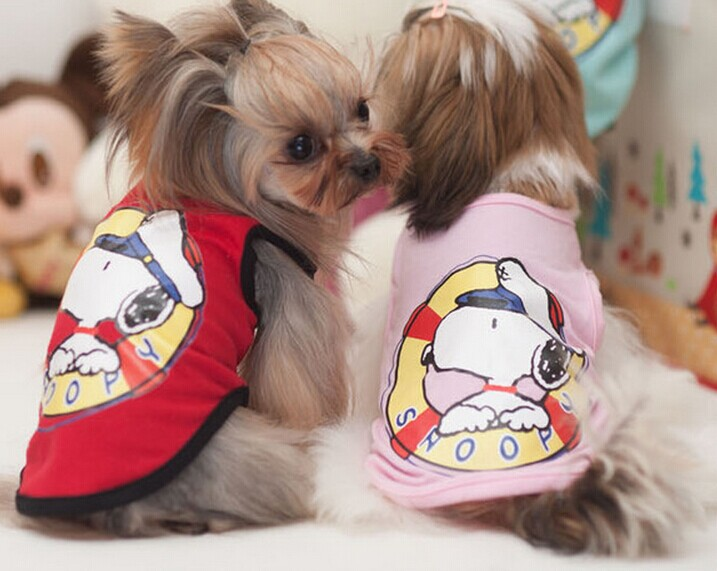 Mr.Micheal 2014 new cotton vest pet clothes Snoopy pet Products dog clothes for dogs(China (Mainland))