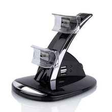 5V 2*400mA LED Dual Controller Charger Dock Station Stand Charging for Playstation PS3 Free Shipping(China (Mainland))