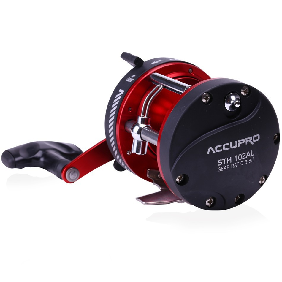 Baitcasting fishing reel sea metal wheel 3 8 1 saltwater for Baitcasting fishing reel