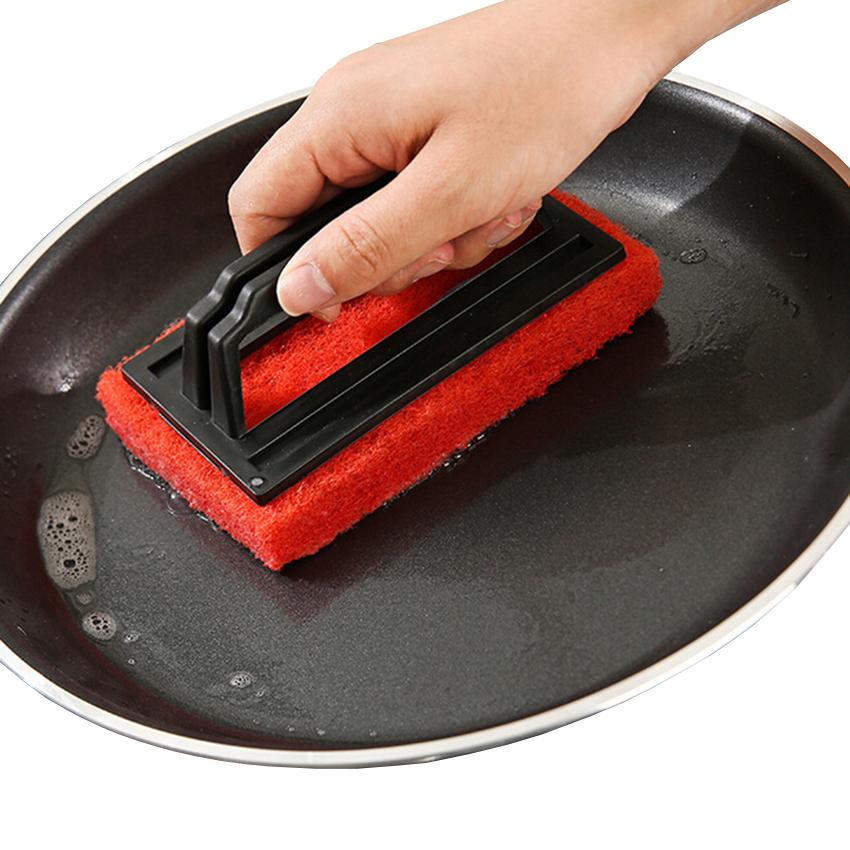 Cleaning brush handle design pan pot brush food grade fiber multi floor brush cleaning tool free shipping Q-292(China (Mainland))