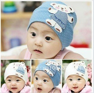 new style wholesale free shipping fashion baby hat baby bear hat baby cap infant hat infant cap headress
