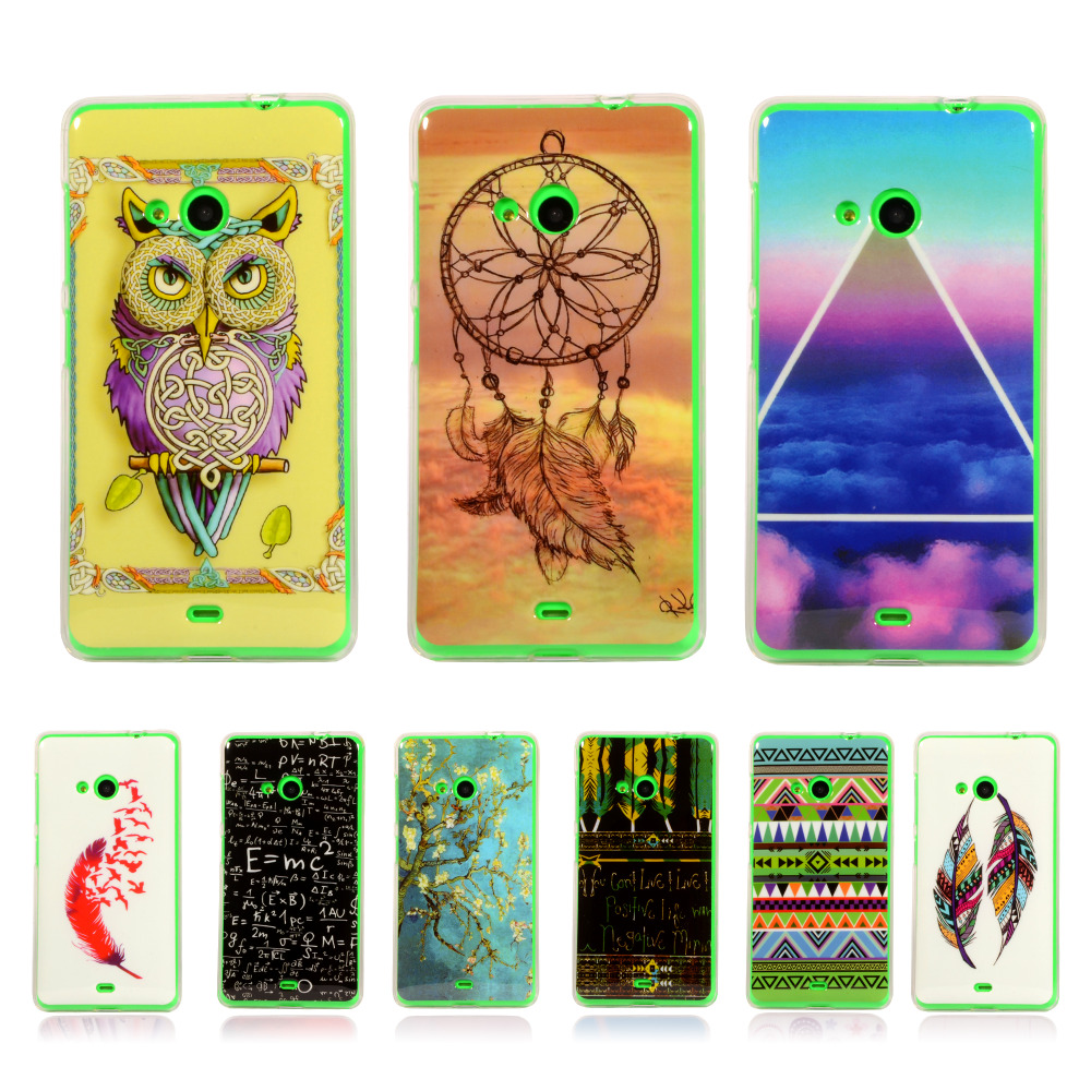 Pattern Rubber Tribe Soft TPU Cover For Nokia Microsoft Lumia 535 1090 1089 With Gel Silicone Case Mobile Phone Protective Cases(China (Mainland))