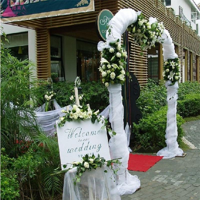 Buy wholesale 75cm width snow organza for American wedding decoration