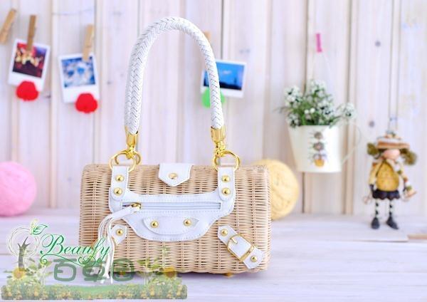 Vivi straw bag factory direct rattan bag casual fashion bohemian beach bags hand-woven handbag tide(China (Mainland))