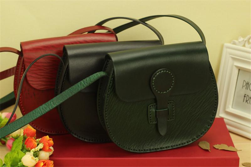 Фотография 2016 Cowhide genuine Leather bag vintage women handbag first layer leather casual Women Bag fashion Shoulder Bags bolsas sac