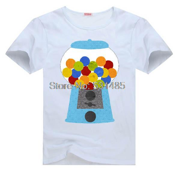 Gum ball Tee Candy Gumball Machine Party Favors t shirt for toddler kids children boy girl cartoon t-shirt(China (Mainland))