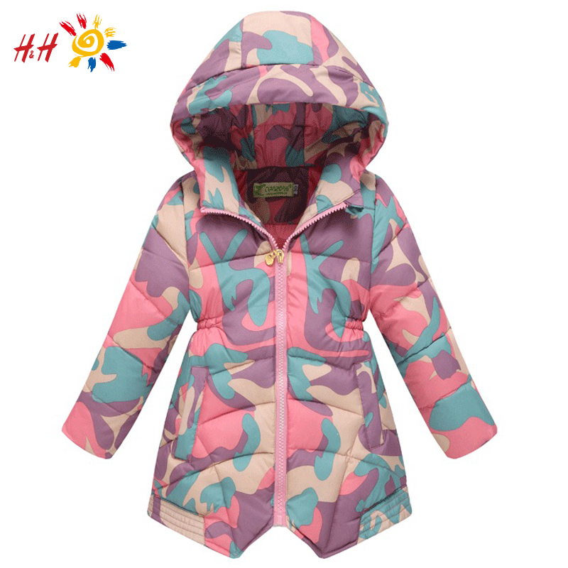 H&H 2015 New Winter Kids GIrls Clothing Coats Reima Children's Winter Jackets 100% White Duck Down Long Baby Outerwear Clothes(China (Mainland))