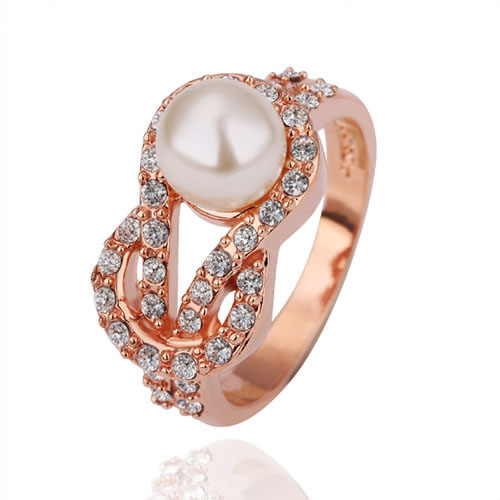 Free Shipping Fashion Jewelry Italy Brand Name Austria Crystal Rotating double loop Rings --18K Gold/Platinum Plated R14(China (Mainland))