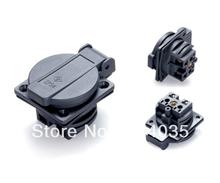 Free shipping Waterproof IEC 320 C14 EU AC POWER socket,Type E/F Power socket,outlet  E-013  Removable(China (Mainland))