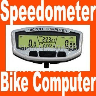 1PC 28 Fuctions LCD Cold Backlight Larger Blue Screen Waterproof Wired Bicycle Odometer Multifunction Bike Computer Speedometer(China (Mainland))