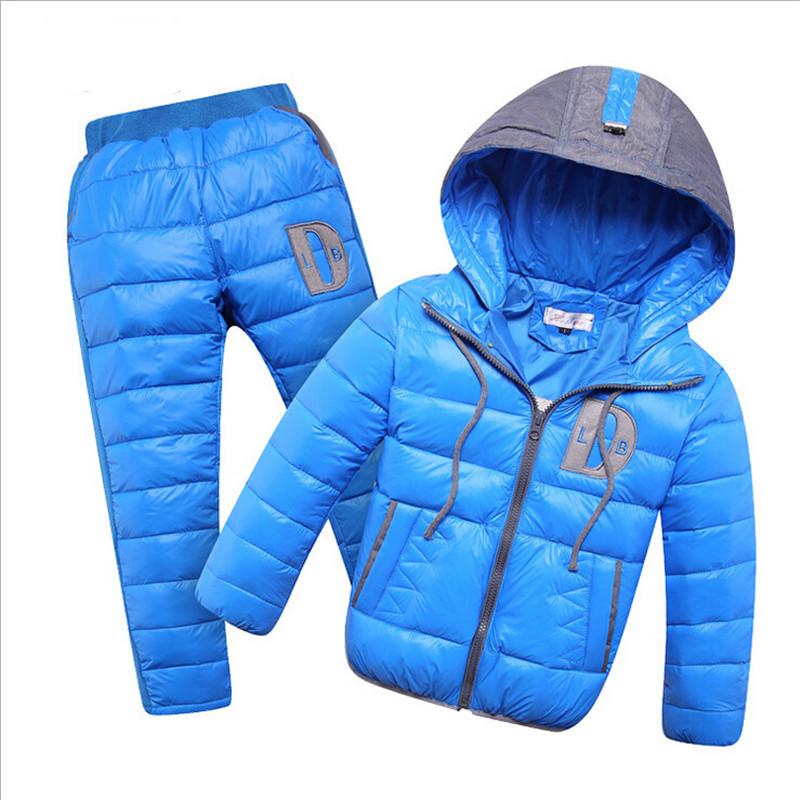 Brand Winter Boy Girl Set Coat + Jumpsuit Next Warm Snowsuit Baby Suit Children Clothing Enfant Hooded Infantil Kids Clothes <br><br>Aliexpress