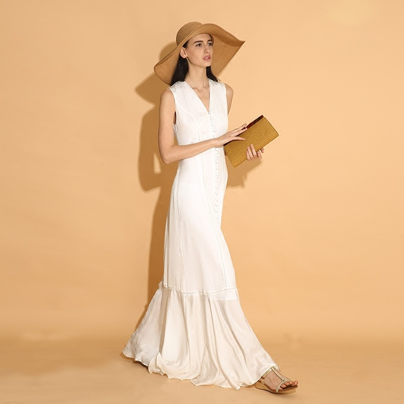 LY015-New-Arrival-Summer-2016-sleeveless-buttons-long-maxi-elegant-bohemian-beach-style-white-vintage-dress