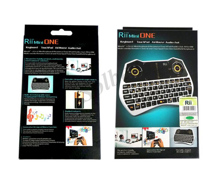 1pc Rii Mini i28 Keyboard 2 4GHz Wireless Backlit Keyboard With Air Mouse Touchpad Audio Chat