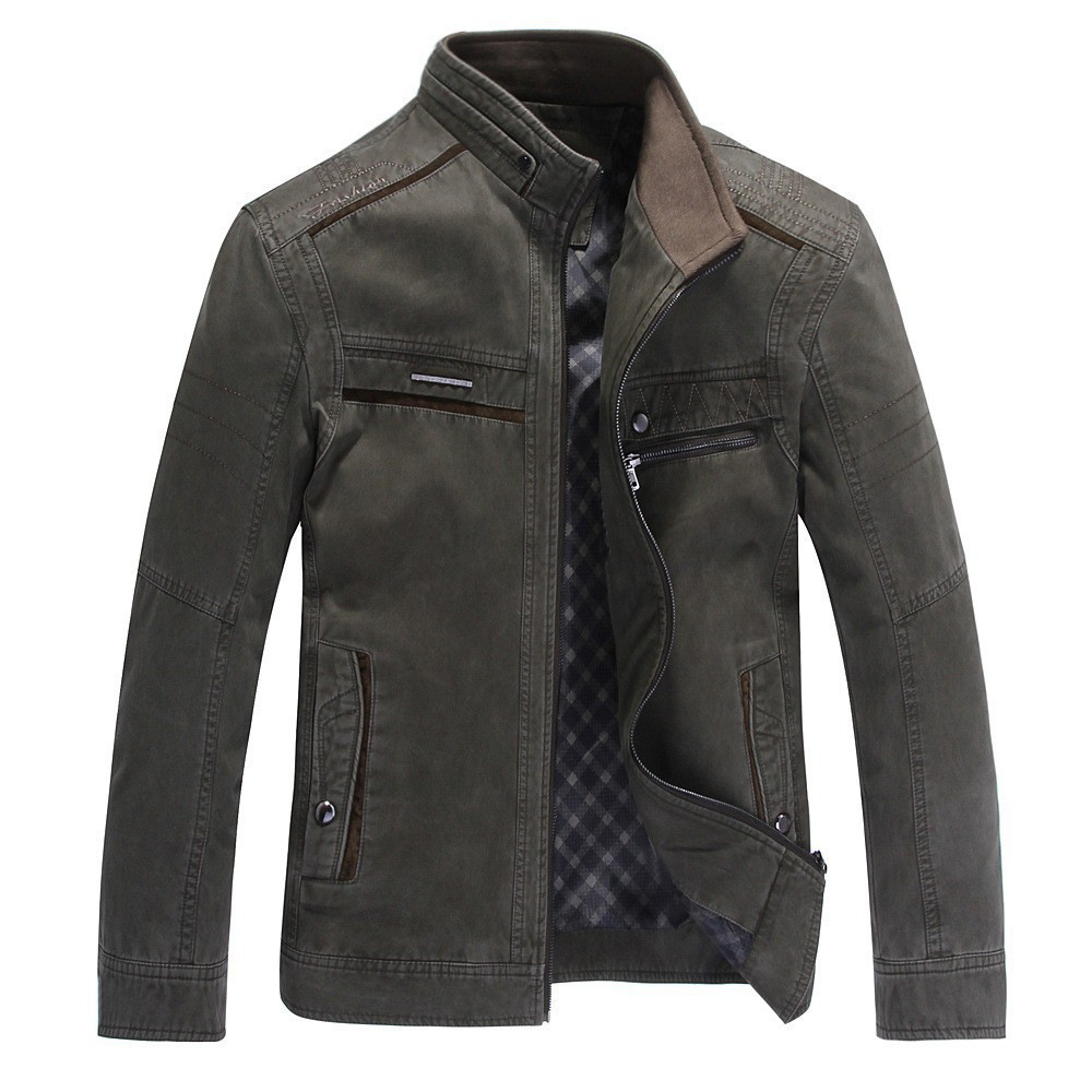 Spring and Autumn 2015 new brand men's jackets men's middle-aged men washed cotton jacket Jacket 1310(China (Mainland))