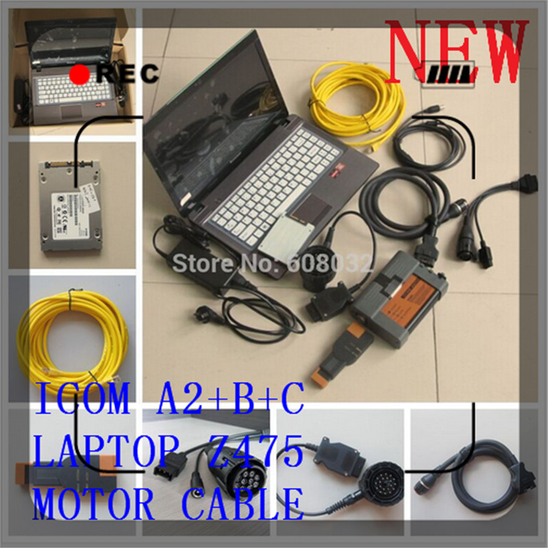 NEW 2016 ICOM A2+B+C Promotion For BMW Diagnostic & Programming Tool 3IN1 with Fast SSD and Full New 4G Laptop Z475& Motor Cable(China (Mainland))