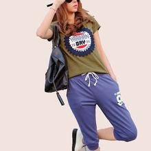 2015 new summer style fashion women clothing loose big yards knee length pants cotton guard pants casual skinny sports pants(China (Mainland))