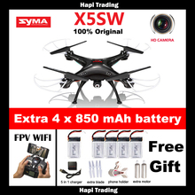 Original SYMA X5SW / X5SW-1 WIFI RC Drone Quadcopter with FPV Camera Headless 6-Axis Real Time RC Helicopter Quad copter Toys(China (Mainland))