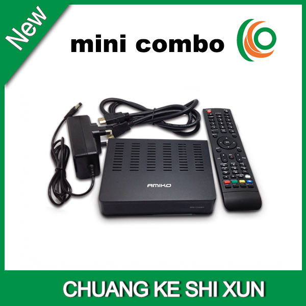 2015 hot selling Amiko mini hd combo receiver with twin tuner,support cccam card sharing and wifi(China (Mainland))
