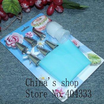Free shipping 7 Pieces Cake Pastry Decorating Kit Sets Bag Master Cupcake Making Baking Tool