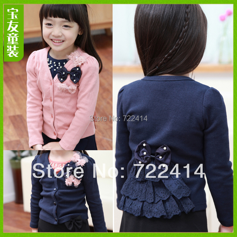 Free shipping new 2015 butterfly decoration kids wear,patchwork pattern children clothing, sweaters, cardigan, jacket,baby suit(China (Mainland))