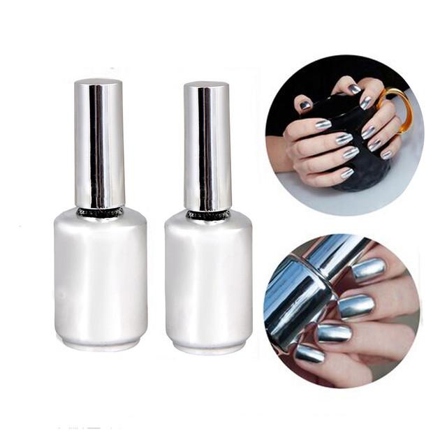 2 шт. 15 мл металлик зеркало-следственных металлического серебра лак для ногтей лак ...