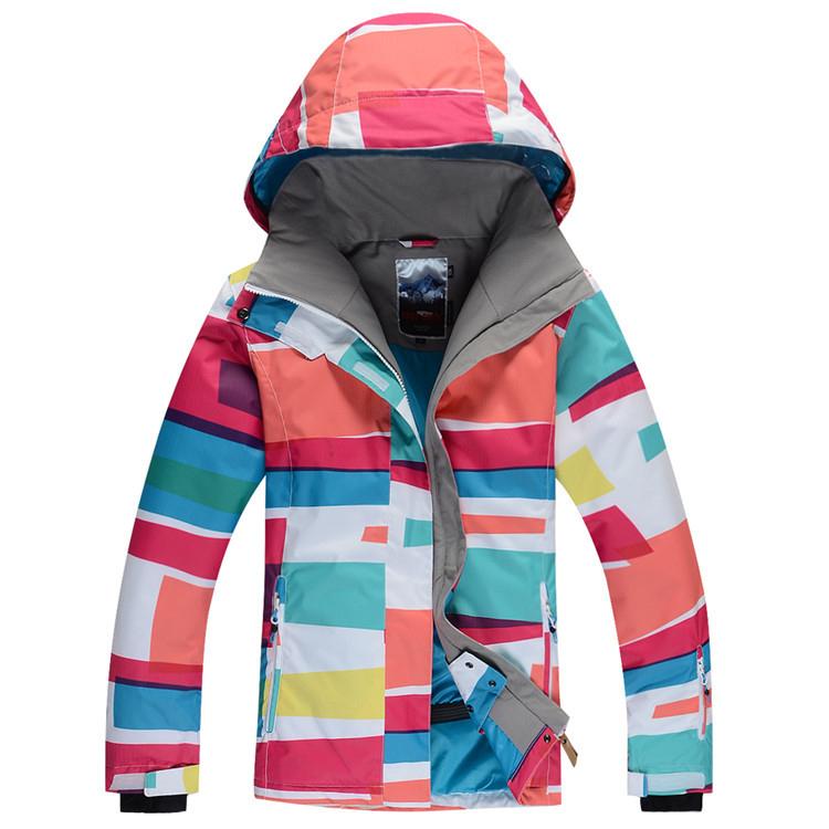 2014 New Brand Designer Lady Women Ski Jacket Fashion Colorful Match Ski Jackets Snowboard Warm Windproof Waterproof Ski Suit(China (Mainland))