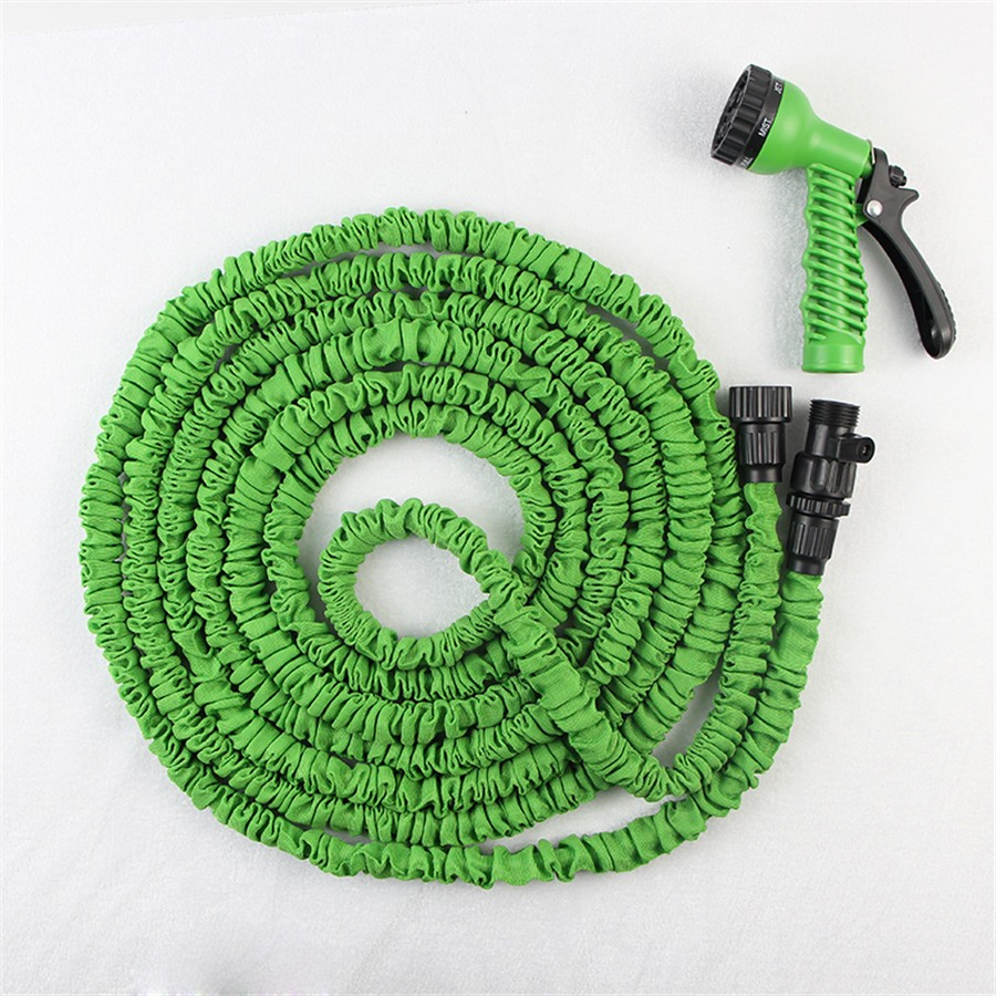 25ft factory price As seen on tv elastic shrinking expandable garden hose, retractable polyester garden water hose(China (Mainland))