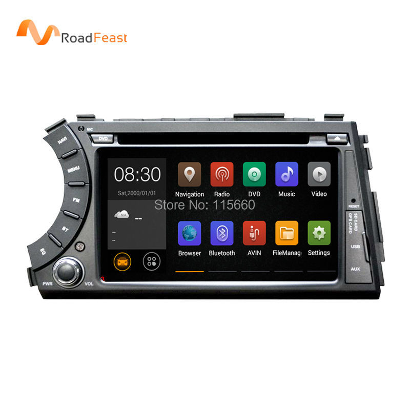 Capacitive Screen 1024*600 Android 4.4.4 Auto PC Car DVD GPS Navigation For Ssangyong Actyon Kyron With 3G WiFi Support OBD DVR(China (Mainland))