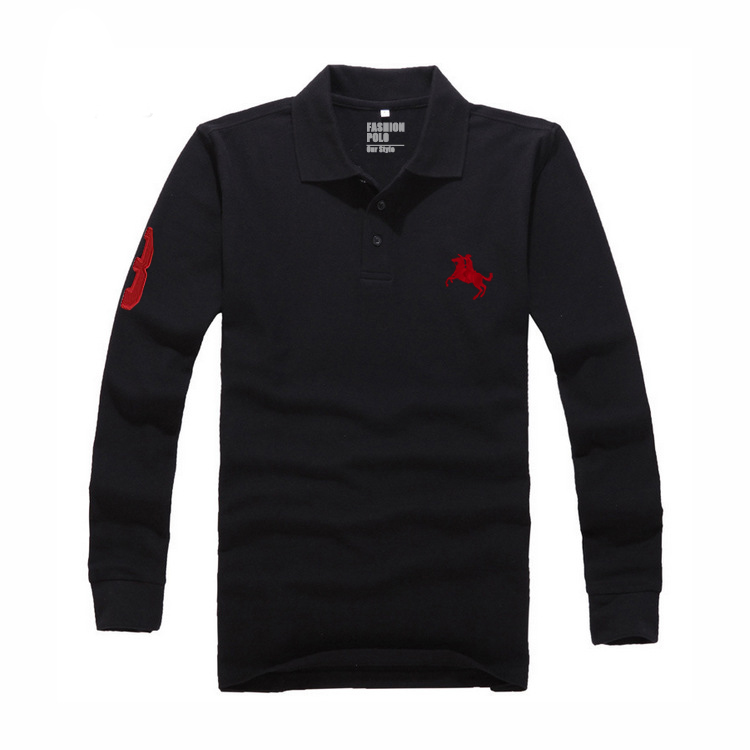 Classic camisa men polo shirt long sleeves solid