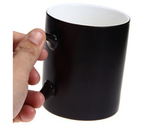 Novel OFF Changing Ceramic Mug Coffee Cup Black
