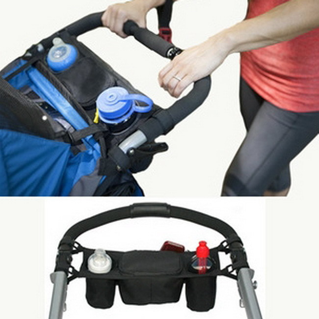 New Oxford Farbic Baby Stroller Organizer Pram Buggy Cart Bottle Bags Cup bag Accessories Baby Car Bag Supplies IC678075(China (Mainland))