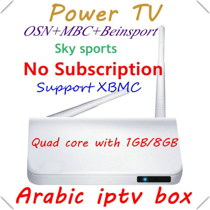 Free shipping DHL Fedex IE,Free Arabic IPTV box,android tv box,no monthly fee,Support 500+ HD Arabic channels(China (Mainland))