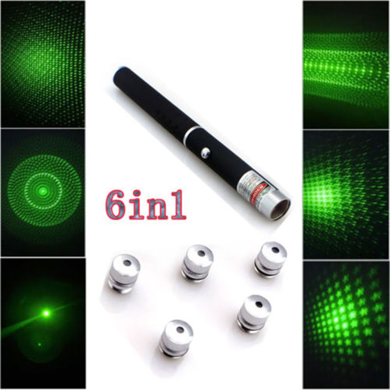 Hot !! 6in1 5mw Green Laser Pointer Star CAP Projector Pen Lazer 532nm USA Stock USA XM1055 / HF1055(China (Mainland))