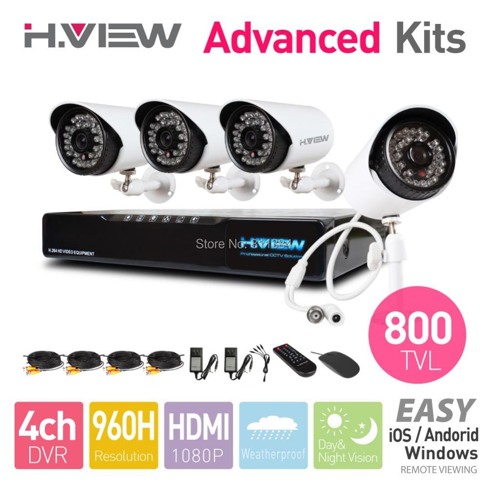 4CH 960H HDMI DVR 4PCS 800TVL CMOS IR Outdoor Weatherproof CCTV Camera 36 LEDs Home Security System Surveillance Kits No HDD(China (Mainland))