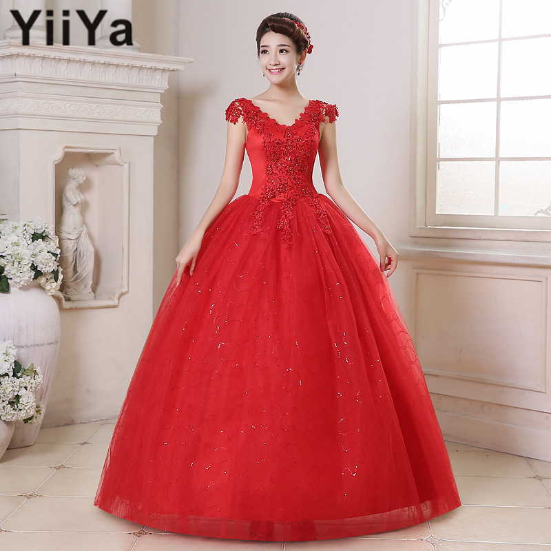 Red Wedding Dresses Lace : Shipping red wedding dresses white plus size lace dress