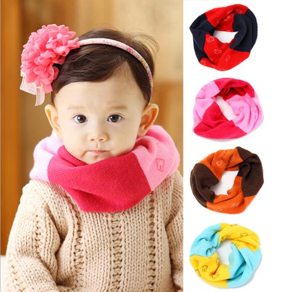 Winter Warm Kids Boys Girls Winter Scarf Woolen Knitted Scarf Cute Neckerchief Baby 0-3Y New(China (Mainland))
