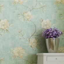 VIntage Flower Wallpaper Roll Rural Background Home Decor papel de parede floral DZK02(China (Mainland))