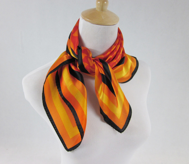 FREE SHIPPING! high quality 100% silk satin neckerchief scarf for office ladies or airline stewardess (SF005)