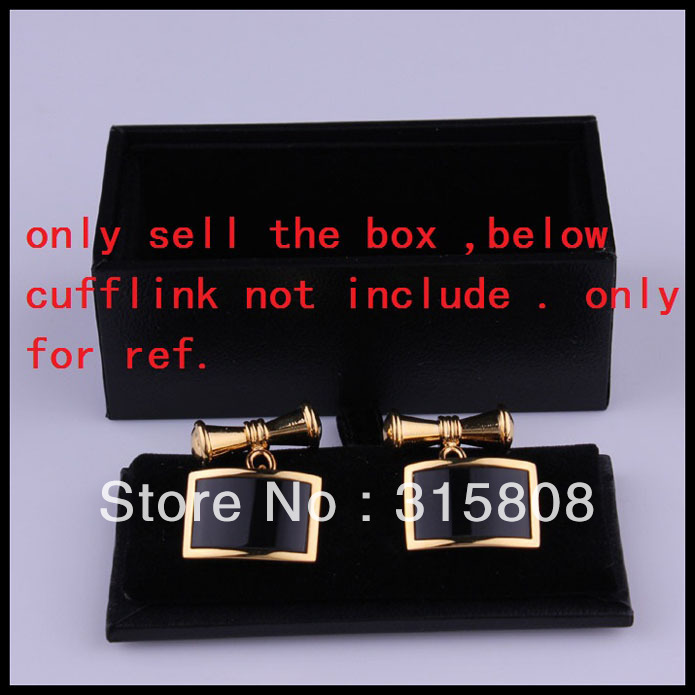 New Man Black Rectangle Faux Leather Small Cufflinks Box 60pcs/lot 8x4x3cm Gift Boxes for Men (SELL BOX ONLY)(China (Mainland))