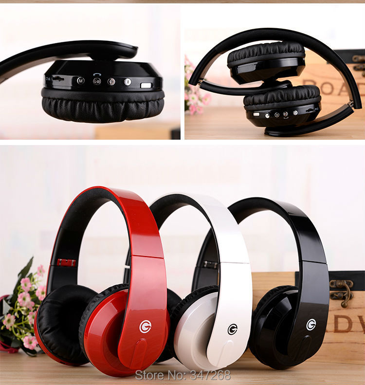 headphones bluetooth stereo Wireless Music A2DP microphone TF FM SD Audio line wireless wired - Ibluetooth Electronics store
