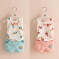 Hot sale 2016 Summer style Children clothing sets Baby boys girls ice cream t shirts shorts