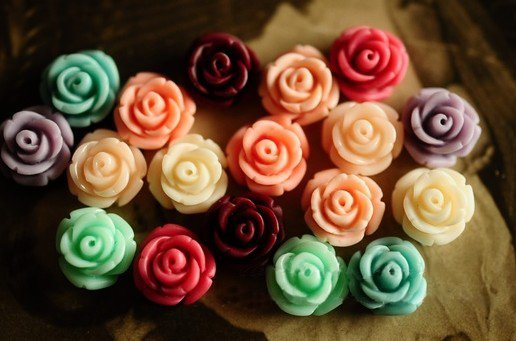 11mm resin cabochon bead Cameo ROSE DIY Handmade flat back jewelry Pendant Accessory wholesale 100pcs/lot