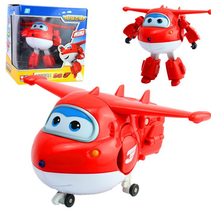2015 Hot Sale! Super Wings ABS Planes Transformation Airplane Robots Brinquedos JETT 12cm Action Figure Toys Gifts For Kids(China (Mainland))