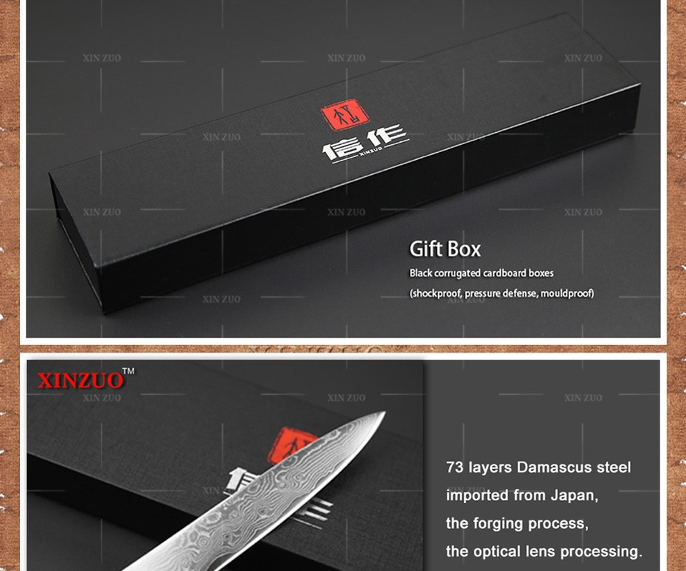 Buy 3 pcs kitchen knives set 73 layers Japanese Damascus kitchen knife set VG10 chef knife chef utility wood handle free shipping cheap