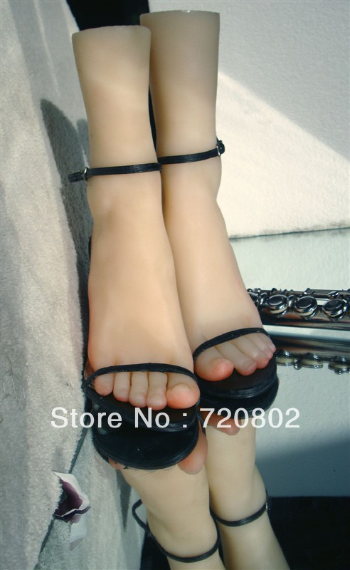 real doll solid silicone Pussy grils Feet fake feet sex womens feet toy model shoes shown girls foot in 1 pair(China (Mainland))