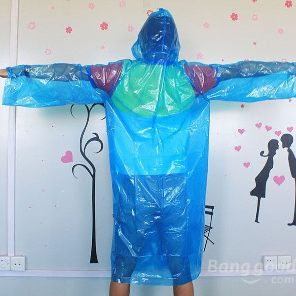 Dollarsky Fieldwork Travel Disposable Plastic Raincoat Poncho Rain Gear(China (Mainland))