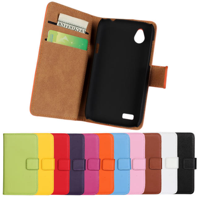 2014 New Stand Wallet Genuine Leather Case Cover HTC Desire V T328W X T328e Phone Cases Card Holder - Tokohansun Store store