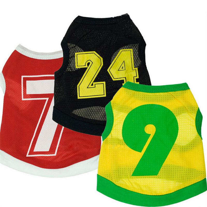 small medium big Dog cat pet vest Clothes Sportswear summer World Cup Football dog puppy T shirt dog soccer vest(China (Mainland))