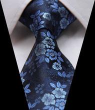 """Tf2005b8 bleu Floral Paisley 3.4 """" 100% soie Jacquard tissé classique man cravate cravate(China (Mainland))"""