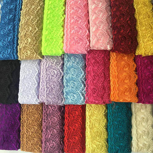 Embroidered Lace Trim Applique , 21 Color 40MM Width 100Yards Embroidery Fabric Lace Ribbon, Bridal Lace Fabric Accept Mix Color(China (Mainland))